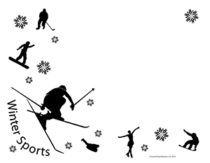 Black and white winter sports
